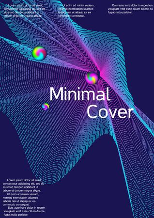 The minimal geometric coverage. Cover design. Sound flyer for creating a fashionable abstract cover, banner, poster, booklet. Zdjęcie Seryjne - 134855993