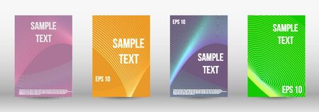 Minimum vector coverage.  A set of trendy covers.  Geometric template with lines for booklet cover. Trendy geometric patterns. Vector Design. Banque d'images - 134873934