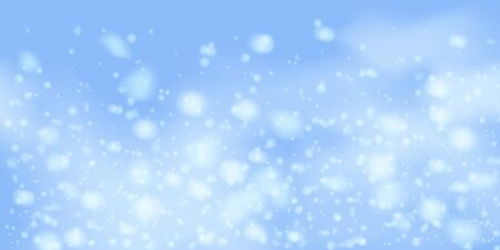 Winter  sky falling on light background. Falling Christmas Shining white transparent beautiful snow. Happy new year decoration. Snowflakes, snowfall. Illusztráció