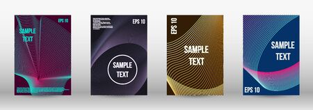Modern design template. A set of trendy covers.  Geometric template with lines for booklet cover. Trendy geometric patterns. Vector Design. Ilustracja