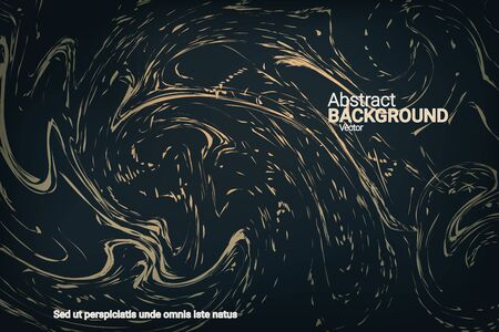 Flat particles of fluid dynamics for wallpaper design.  Holiday concept. Flat design style.  Abstract vector illustration. Çizim