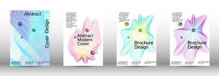 Minimum coverage of a vector. Cover design. Set of modern abstract musical backgrounds. Sound flyer for creating a fashionable  cover, banner, poster, booklet. Ilustracja