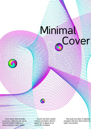 Minimum coverage of the vector. Cover design. Sound flyer for creating a fashionable abstract cover, banner, poster, booklet. Ilustracja