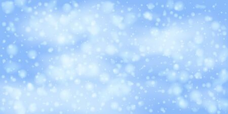 Christmas vector background. Falling Christmas Shining white transparent beautiful snow. Happy new year decoration. Snowflakes, snowfall.