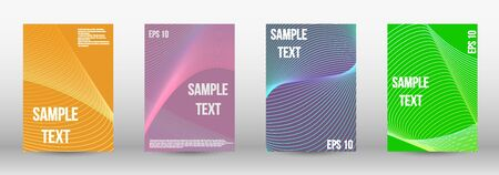 Minimum vector coverage.  A set of modern abstract oblong objects from vector abstract lines. Geometric template with lines for booklet cover. Trendy geometric patterns. EPS10 Vector Design.