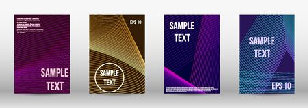 Minimum vector coverage.  A set of trendy covers.  Wave lines.Striped background.  Trendy geometric patterns. EPS10 Vector Design.