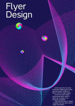 Minimal vector cover design with abstract gradient linear waves. Cover design. Suitable for creating a fashionable abstract cover, banner, poster, booklet.