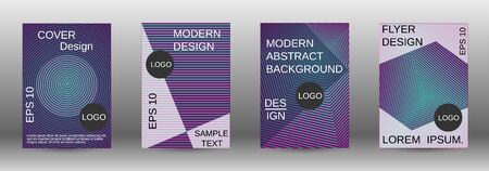 Cover design template set. Abstract cover. Positive design template. Creative backgrounds with abstract gradient linear waves to create a fashionable  banner, poster. 일러스트