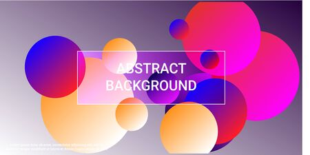 Gradients of balls shapes. Minimal coating design. Vector geometric illustration. Halftone, 3d. Abstract background of blue, purple, red, yellow gradients beads shapes. Vektoros illusztráció