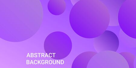 Gradients of balls shapes. Minimal coating design. Vector geometric illustration. Halftone, 3d. Abstract background of purple, pink gradients beads shapes.