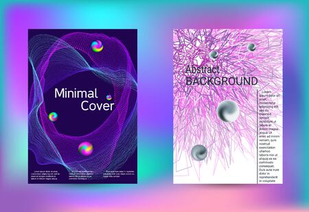 Set of covers for design. Minimal creative art. Vector print template. Geometric print. Abstract vector background.