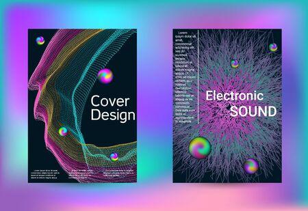 Set di copertine per il design. Arte creativa minima. Modello di brochure aziendale. Stampa geometrica. Fondo astratto di vettore.