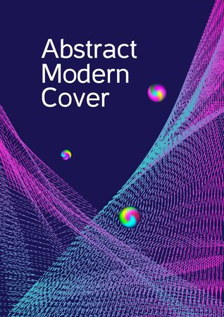 Minimum coverage of a vector. Cover design. Sound flyer for creating a fashionable abstract cover, banner, poster, booklet. Illustration