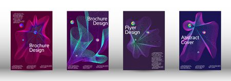 Minimum coverage of the vector. Cover design.  A set of modern abstract oblong objects from vector abstract lines. Illustration