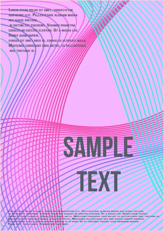 Modern abstract background. Modern abstract cover from vector abstract lines.  Geometric future template for flyer, poster, brochure and invitation. Banque d'images - 138245549