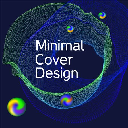 Minimal vector coverage. Cover design for electronic music festival.  Modern web template. Business , technology background. Music abstract composition.
