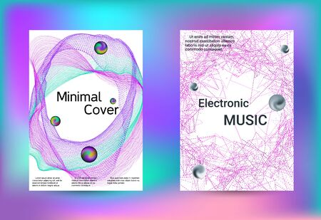 Electronics music set covers. Minimal creative art. Vector print template. Geometric print. Abstract vector background.  Ilustracja