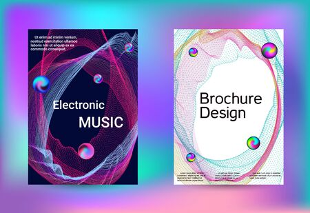 Electronics music set covers. Minimal creative art. Business brochure template. Geometric print. Abstract vector background.