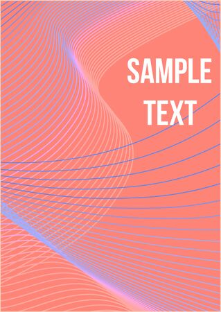 Minimal trendy vector with halftone gradients.  Modern abstract cover from vector abstract lines.  Geometric future template for flyer, poster, brochure and invitation.