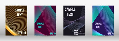 Modern design template. A set of trendy covers.  Wave lines.Striped background.  Trendy geometric patterns. EPS10 Vector Design. Ilustracja