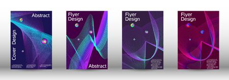 The minimal geometric coverage. Cover design. A set of modern abstract covers. Minimal vector cover design with abstract lines. Ilustracja