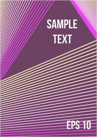 Abstract cover. Minimalistic colorful cover. The future template for decorating the background of albums, business brochures, banner, poster.