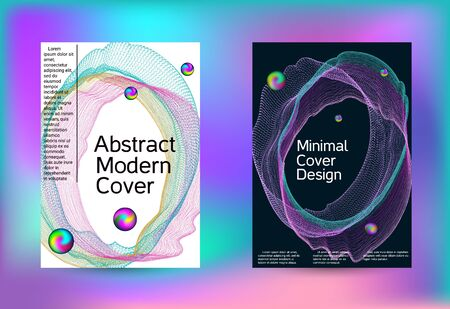 Set of covers for design. Minimal creative art. Vector print template. Geometric print. Abstract vector background. Foto de archivo - 138464690