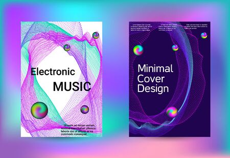 Electronics music set covers. Line art banner. Isolated vector illustration vector music background. Vector print template. Geometric print. Abstract vector background. Foto de archivo - 138464464