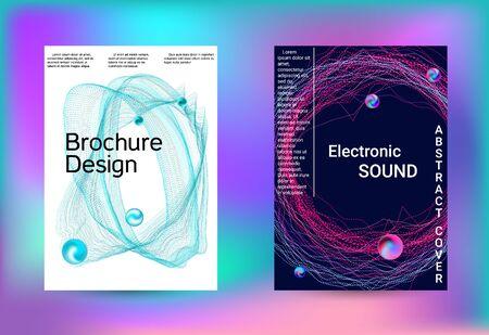 Electronics music set covers. Minimal creative art. Vector print template. Geometric print. Abstract vector background. Foto de archivo - 138468090