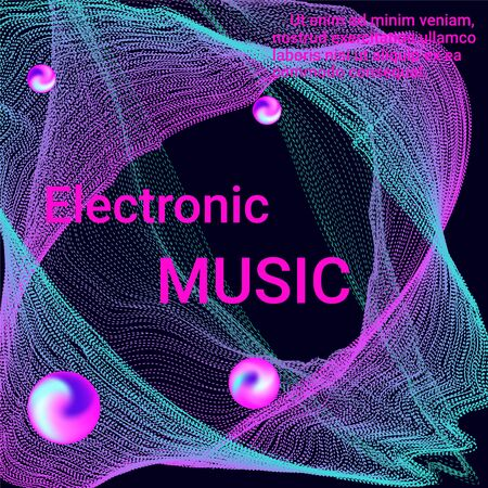 Poster for cover design. Abstract flyer design background.  Modern web template. Business , technology background. Music abstract composition.