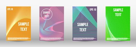 Modern abstract background. A set of trendy covers.  Wave lines.Striped background.  Trendy geometric patterns. EPS10 Vector Design.
