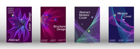 The minimal geometric coverage. Cover design. A set of modern abstract covers. Minimal vector cover design with abstract lines. 일러스트