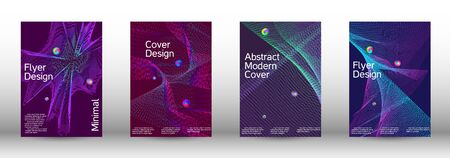 Minimum coverage of a vector. Cover design. A set of modern abstract covers. Minimal vector cover design with abstract lines. 일러스트