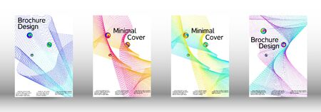 Minimum coverage of a vector. Cover design. Set of modern abstract musical backgrounds. Sound flyer for creating a fashionable  cover, banner, poster, booklet. 일러스트