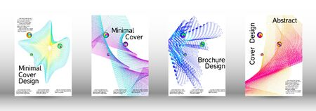 The minimal geometric coverage. Cover design. A set of modern abstract covers. Minimal vector cover design with abstract lines. Иллюстрация