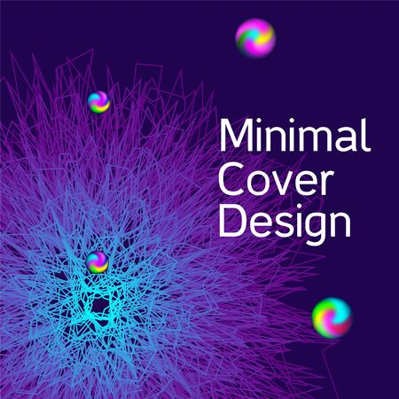 Minimal vector coverage. Cover design for electronic music festival.  Abstract sound wave. Cover layout template.