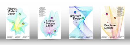 Minimum coverage of a vector. Cover design. Set of modern abstract musical backgrounds. Sound flyer for creating a fashionable  cover, banner, poster, booklet. Illustration