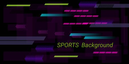 Colorful sports abstract vector background in modern style.  Modern design. Creative geometric wallpaper. Cover layout template. Color background. Brochure template.