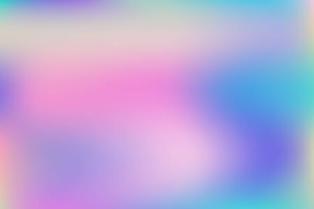 Abstract blurred gradient mesh background. Creative modern concept, vector illustration. Intense blank Holographic spectrum gradient for cover.