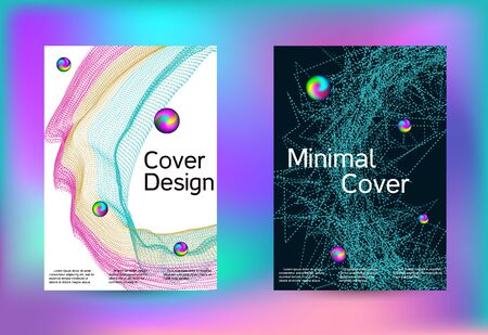 Set of covers for design. Line art banner. Isolated vector illustration vector music background. Vector print template. Geometric print. Abstract vector background. Stock Illustratie