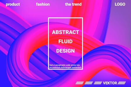 Futuristic Abstract Background. 3d  Abstract liquid fluid color shape. Vibrant Gradient.  Modern graphic texture. Vector 3d illustration.