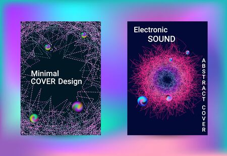 Set of covers for design. Minimal vector coverage. Vector print template. Geometric print. Abstract vector background.