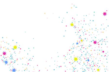Colored confetti. Illustration of a drop of shiny particles. Decorative element. Luxury background for your design, cards, invitations, gift, vip.