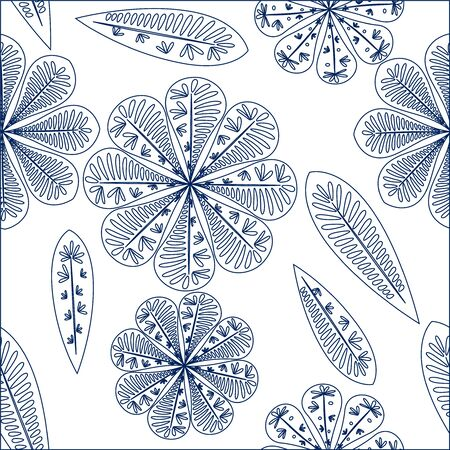 Nice floral pattern. Vector seamless floral pattern. Spring decoration. Vector illustration isolated. Abstract vector background.