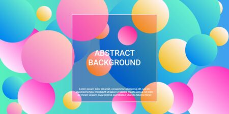 Trendy gradients of balls shapes, great design for any purposes.  Trendy minimal design. Graphic vector art. Geometric modern design.