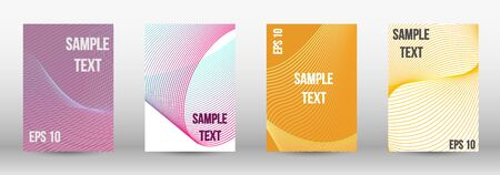 Minimum vector coverage.  A set of trendy covers.  Wave lines.Striped background.  Trendy geometric patterns.