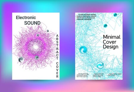 Set of covers for design. Minimal creative art. Vector print template. Geometric print. Abstract vector background. Illustration