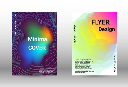 Modern design template.  A set of modern abstract covers. Musical covers your design, great design for any purposes.  Concept business vector. Illustration
