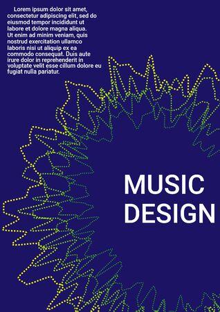 Minimum vector coverage. Cover music album. Business vector template.