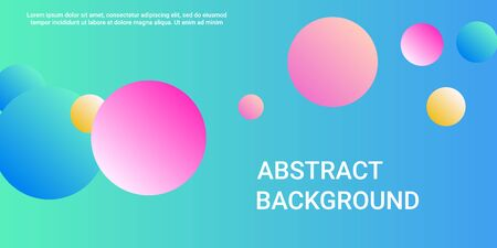 Trendy gradients of balls shapes, great design for any purposes.  Creative geometric wallpaper. Vector 3d illustration. Abstract geometric background design.